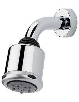 Garda 3 Mode 80mm Fixed Shower Head And Wall Mounted Arm