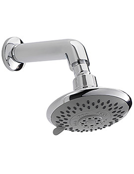 Storm 5 Mode 125mm Fixed Shower Head And Wall Mounted Arm