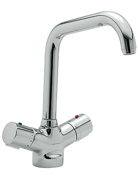 Questflo Thermostatic Monobloc Kitchen Sink Mixer Tap