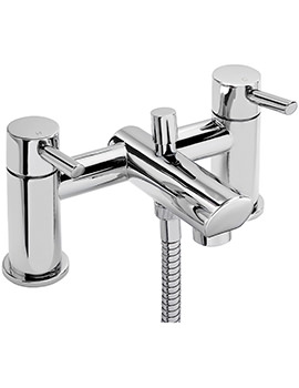 Rocco Deck Mounted Bath Shower Mixer Tap With No.1 Kit