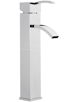 Arke Extended Monobloc Basin Mixer Tap With Sprung Waste