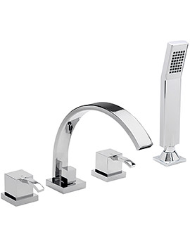 Arke 4 Hole Deck Mounted Bath Shower Mixer Tap