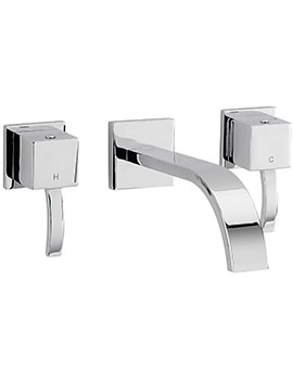 Arke 3 Hole Wall Mounted Bath Filler Tap 180mm