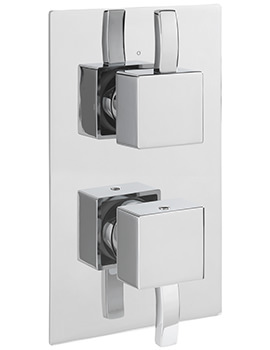 Arke Concealed Thermostatic Shower Valve With 2 Way Diverter