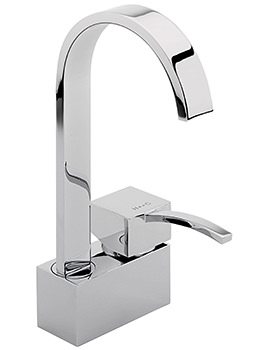 Arke Monobloc Basin Mixer Tap With Swivel Spout