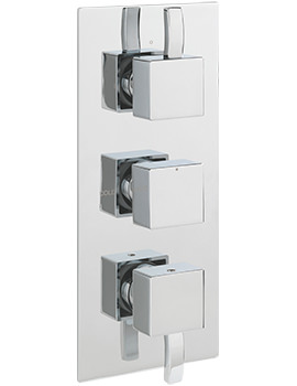 Arke Concealed Thermostatic Shower Valve With 3 Way Diverter