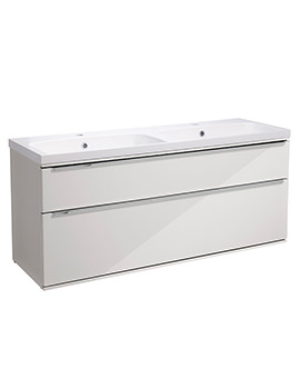 Scheme 1200mm Wall Mounted Vanity Unit - SCH1200D.GW