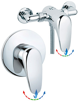 Genoa Exposed Or Concealed Thermostatic Shower Valve