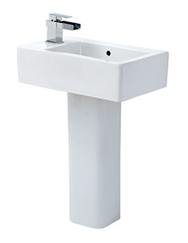 Qube Basin With Full Pedestal 475mm Wide - QU051