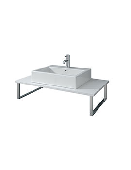 X-Large 1000 x 480mm White Matt Fixed Console