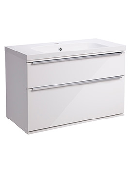 Scheme 800mm Wall Mounted Vanity Unit - SCH800D.GW