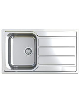 Linus 1.0 Bowl Polished Stainless Steel Inset Sink