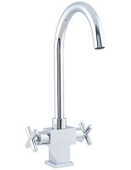 Related Astracast Danube Twin Cross Handle Kitchen Sink Mixer Tap- TP0714