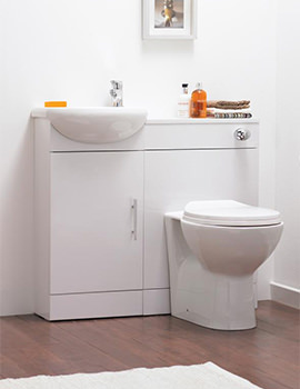 Sienna Cloakroom Gloss White Furniture Pack