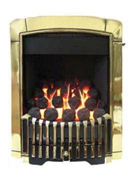 Flavel Caress Contemporary Slide Control Inset Gas Fire Brass FICC45SN