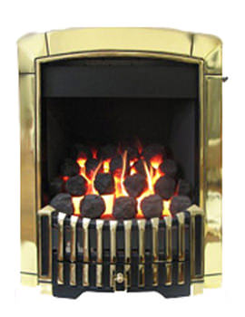 Flavel Caress Contemporary Manual Control Inset Gas Fire Brass FICC15MN
