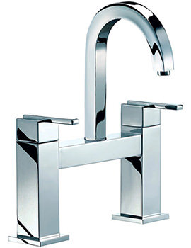 Ice Quad Lever Bath Filler Tap High Spout Chrome - ISL015