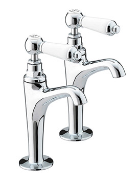 Renaissance High Neck Kitchen Pillar Taps - RS HNK C