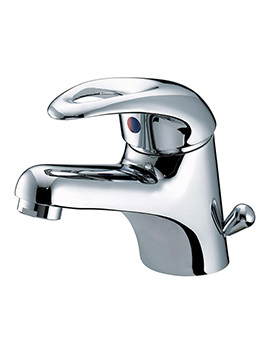 Java Basin Mixer Tap With Side Action Pop-Up Waste - J BASSW C