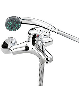 Java Wall Mounted Bath Shower Mixer Tap With Kit - J WMBSM C