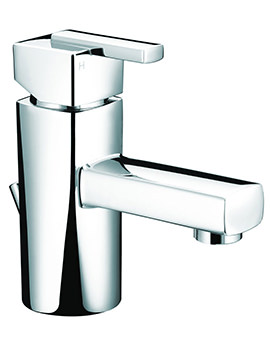 Qube Mini Basin Mixer Tap With Pop-Up Waste - QU SMBAS C