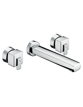 Qube 3 Hole Wall Mounted Bath Filler Tap - QU 3HWMBF C