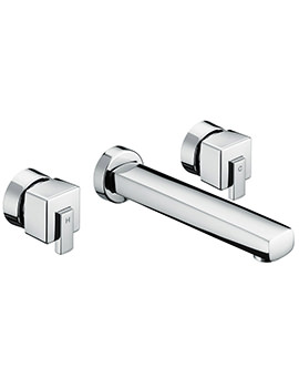 Qube 3 Hole Wall Mounted Basin Mixer Tap - QU 3HWMBAS C