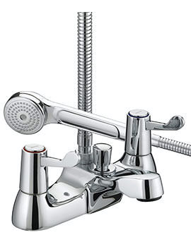 Lever Bath Shower Mixer Tap With 3 Inch Levers