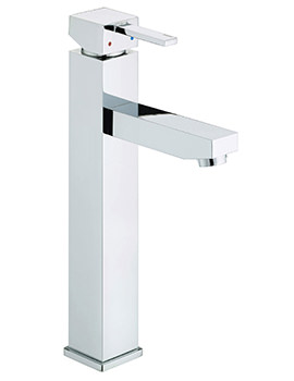 Quadrato Chrome Tall Basin Mixer Tap - QD TBAS C