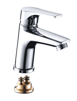 Vantage Chrome Plated Basin Mixer Tap - VT BASNW C