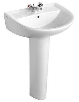 Armitage Shanks Sandringham 21 Washbasin 55cm With 1 Tap Hole