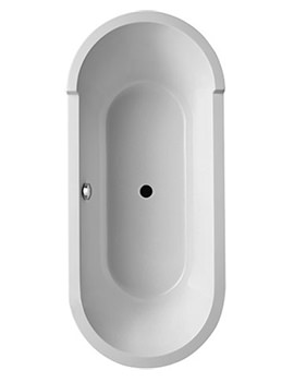 Duravit Starck Freestanding Bath With Panel And Frame 1800 x 800mm - 700010