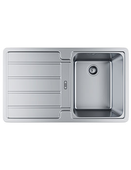 Hydros HDX 614 Stainless Steel 1.0 Bowl Kitchen Inset Sink