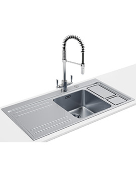 Related Franke Largo Workcentre DP LAX 211-W-36 1.0 B Stainless Steel Sink And Tap