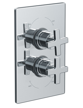 Euphoria Plate Mounted Thermostatic Shower Mixer Valve - AB2206