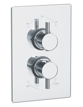 Abode Euphoria Thermostatic Shower Mixer Valve With 2 Exit - AB2217