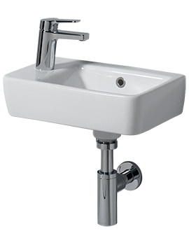 Related Twyford E200 400 x 250mm 1 Left Hand Tap Hole Handrinse Washbasin