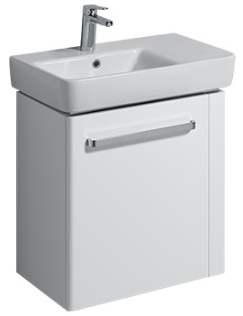 E200 590mm White Unit And 650mm Basin With Right Hand Shelf