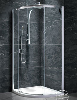 Manhattan 8 Single Door Quadrant Shower Enclosure 800mm