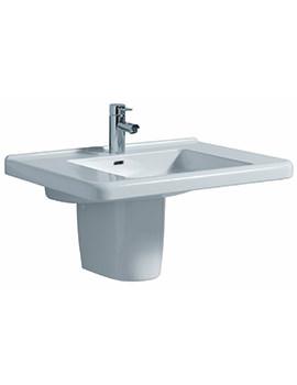 Twyford All 750 x 550mm 1 Tap Hole Washbasin With Semi Pedestal