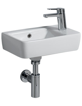 E200 400 x 250mm 1 Right Hand Tap Hole Handrinse Washbasin