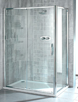 Showerlux Glide 6mm Glass Single Slider Door 1500mm - 6931500500