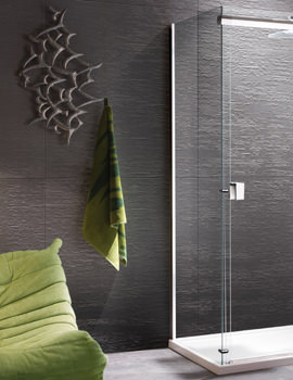 Manhattan 8 760mm Side Panel For Straight Sliding Shower Door