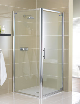 Glide 8mm Glass Pivot Shower Door 900mm - 6820900520