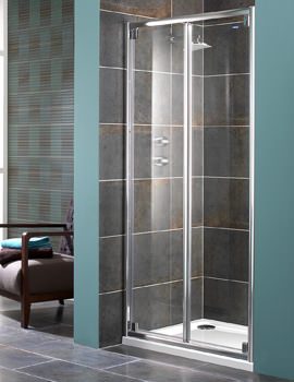 Showerlux Glide 8mm Glass Bi-fold Shower Door 1000mm - 6831000520