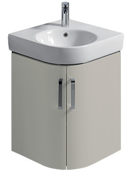 Twyford E200 690mm Grey Corner Unit And 500mm Handrinse Basin