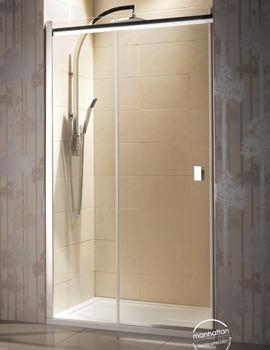 Manhattan 8 Straight Sliding Shower Door For Alcove 1700mm