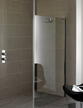 Urban Chic Flat Wetroom Panel With Ceiling Support 900mm
