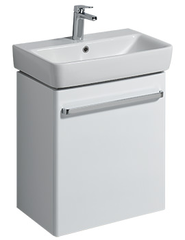 E200 550mm White Unit For 600mm 1 Or 2 Tap Hole Basin