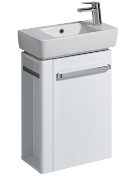 Twyford E200 448mm White Unit And 500mm Basin With Right Hand Tap Hole
